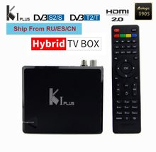 KI plus s2 t2 DVB 2in1 K1 DVB-S2 DVB-T2 boîte de télévision androidOS amlogic s905D 1g 8g 4k Supporte CCCAM IPTV arabe europe Brésil Suédois(China)