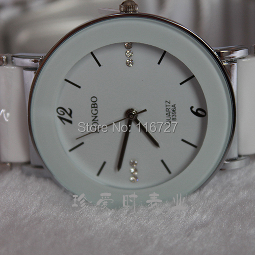 Top Longbo Brand White Ceramic Watch Couple Fashion& Casual Gift Watch Quartz Luxury Watch Men Women Lovers Dress Wristwatches