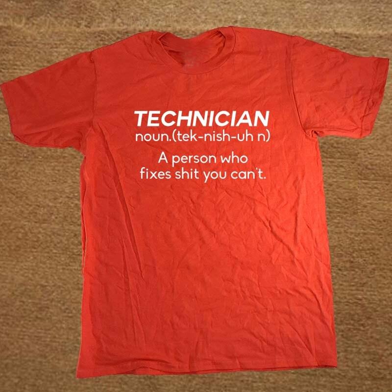 New Summer Style NOUN TECHNICIAN Funny Joke Rude BIRTHDAY Gift Computer Geek T-shirt T Shirt Men Casual Short Sleeve Top Tees 2