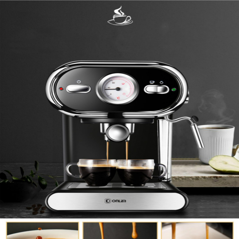Donlim DL KF5002 Pump Pressure Steam Coffee Machine 20Bar High 92 Degrees Celsius Constant Temperature Extraction