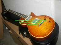Custom Shop 1959 R9 Tiger Flame Electric Guitar Mahogany Body High Quality Wholesale Guitars With Case
