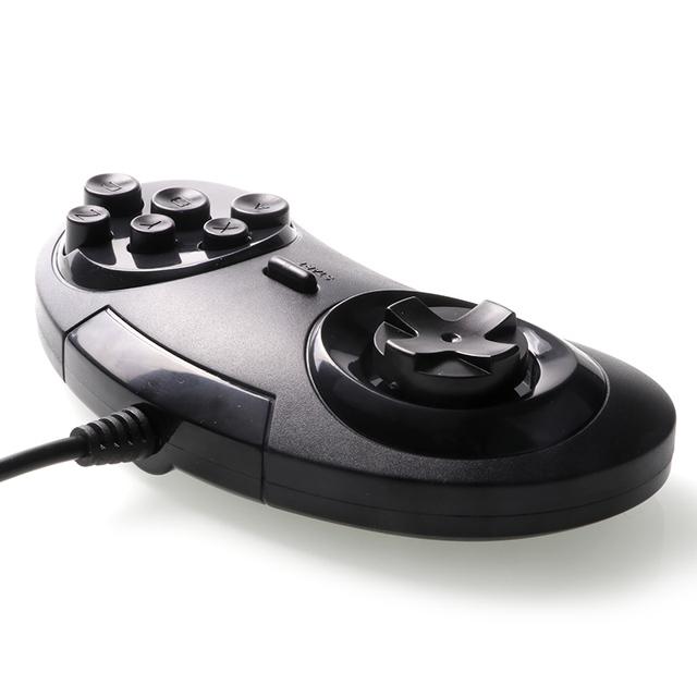 Gamepads for SEGA Genesis/MD2 Y1301 Gamepad USB Game Controller 6 Buttons SEGA USB Gaming Joystick Holder for PC MAC Mega Drive