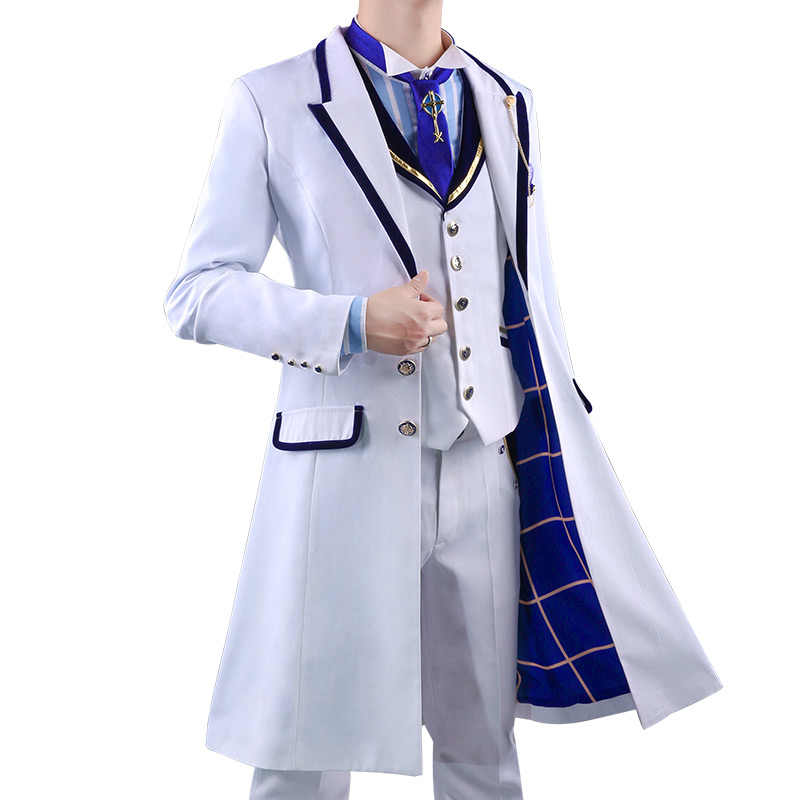 Anime! Fate Grand Order Saber White Rose Suit Uniform Cosplay Costume For Men Custom-made Size 2018 New Outfit Free Shipping