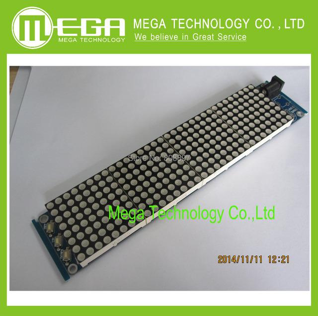 Frete grátis! JY-MCU 3208 Malha Relógio apoio MCU motorista HT1632C com um desenvolvimento secundário Dot Matrix Relógio