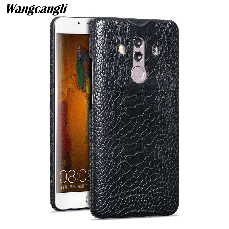 Wangcangli rare ostrich foot skin phone case for HUawei Mate 10 Pro Half pack phone protection shell Genuine Leather phone caseWangcangli rare ostrich foot skin phone case for HUawei Mate 10 Pro Half pack phone protection shell Genuine Leather phone case