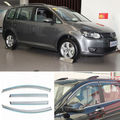 4pcs New Smoked Clear Window Vent Shade Visor Wind Deflectors For VW Touran 08-11