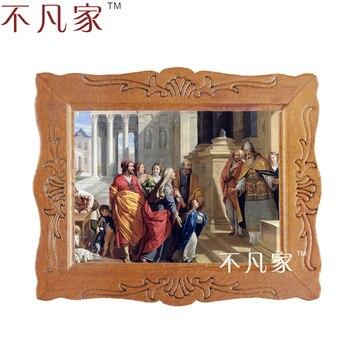 цена на Wholesale Dollhouse 1:12 scale miniature classical religion oil Home Decorations Painting Frame D-5