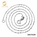 18inches Genuine 925 Sterling Silver Chain Wholesale 1mm Silver Stars Chain Necklace For Women GNLT0100