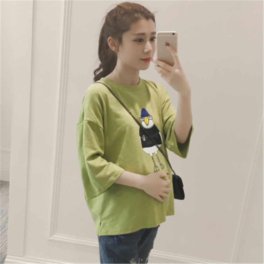 2017 New Fashion Maternity T Shirts Women Casual Pregnancy Maternity Clothes Printed Funny Maternity Shirts Clothing 70Z1006 2016 spring new trending comfortable pregnancy women blouses micro flower dotting printed casual shirts maternity clothes 1062