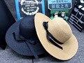 10 pcs frete grátis / 2016 crianças chapéu de verão primavera lPure fita cor praia grande chapéu de sol meninas crianças cap atacado