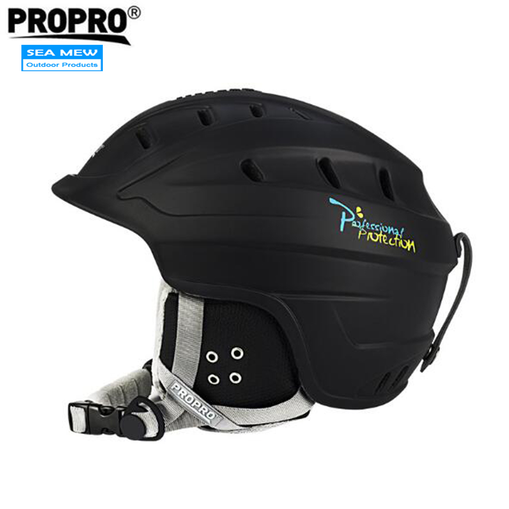 PROPRO Breathable Vents Sports Safety Skiing Helmets With Inner Adjustable Buckle Liner Cushion Layer Unisex Adult Ski Helmet high quality helmets hard hat y class of chinese standards safety helmets breathable abs anti smashing hard hats
