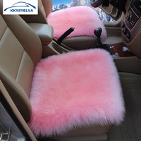 Winter Car Seat Cushion Pure Wool Cushion Fur One Piece Seat One Front Seat Covers