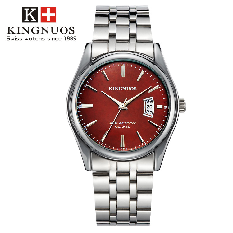 Kingnuos Tops Luxury Brand Men Full Stainless Steel Business Watches Men's Quartz Date Clock Men Wrist Watch relogio masculino 3