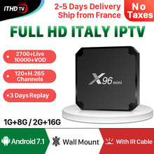 X96 MINI IPTV Italy France Portual Turkey 1 Year Android 7.1 1G+8G/2G+16G Arabic Portugal Spain ITHDTV