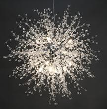 GDNS Chandeliers Firework LED Light Stainless Steel Crystal Chandelier Lighting Ceiling Fixtures Foye