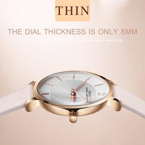 Image 5 - IBSO marka 8 MM ultra cienki zegarek kwarcowy kobiety szare skórzane damskie zegarki 2019 luksusowe panie zegarek Montre Femme