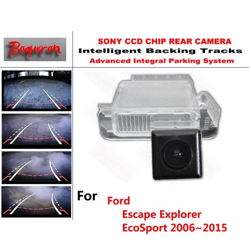 For Ford Escape Explorer EcoSport 2006~2015 CCD Car Backup Parking Camera Intelligent Tracks Dynamic Guidance Rear View Camera for mazda 6 mazda6 atenza 2014 2015 ccd car backup parking camera intelligent tracks dynamic guidance rear view camera