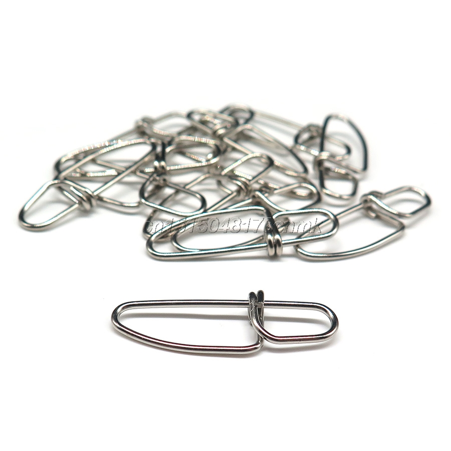 Minfishing 100pcs/lot double lock fishing snaps Stainless Steel ...