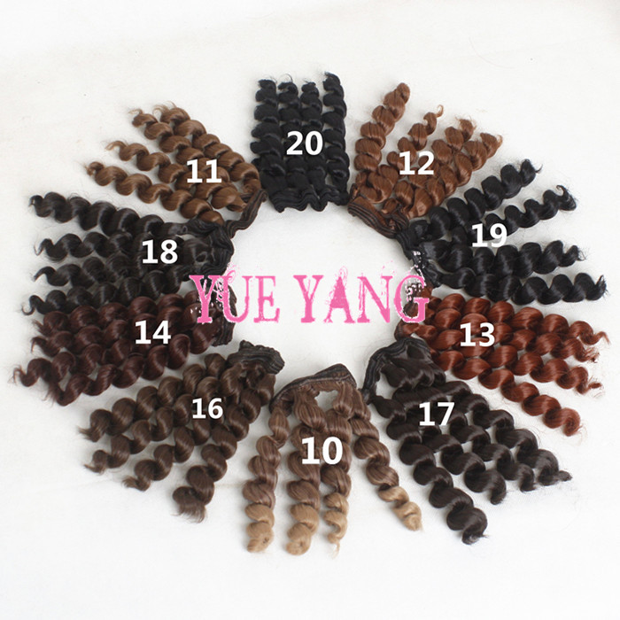 Charitable O For U 100 Pcs/lot Trackable Black Brown Colors Bjd Wigs Screw Coils Noodle Curly Thick Doll Dit Wig Hair For Sd Bjd Handmade