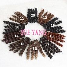O for U 100 Pcs lot Trackable Black Brown Colors BJD Wigs Screw Coils Noodle Curly