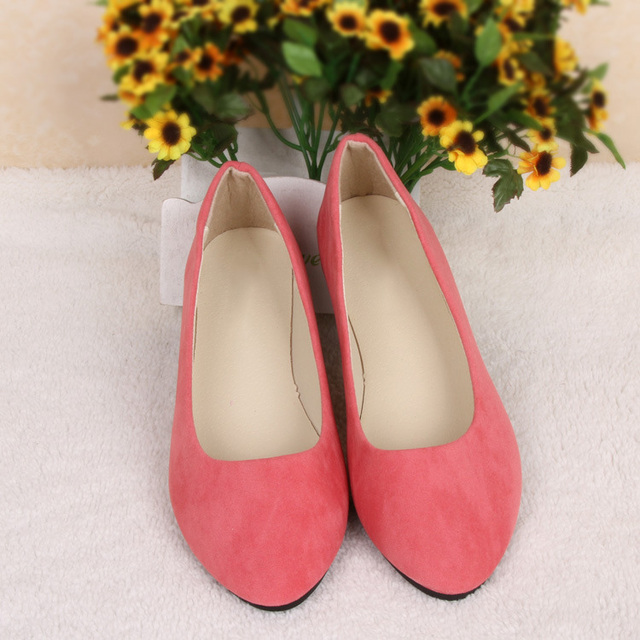 Women Shoes Slip On Womens Flats Shoes Loafers Faux Suede Womens Ballerina Flats Casual Comfort Ladies Shoes plus size 35-43