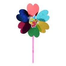 Красочные Блестки мультфильм цветок насекомых ветряная мельница детская игрушка украшение дома сада