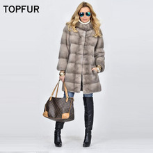 TOPFUR 2019 New Type Slim Long Real Fur Coat Women Fashion Winter Warm Without Hood Customized Luxury Mink Outwear