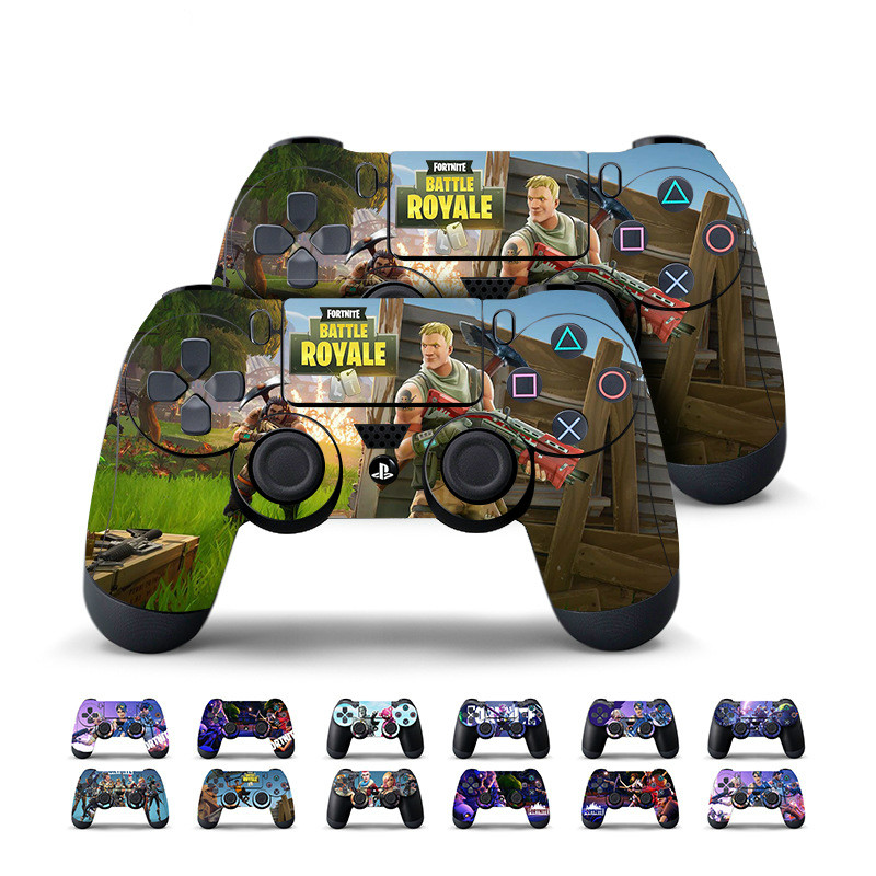 2 Pcs Fortnite Sticker for PlayStation 4 PS4 Game Controller Battle Royale Skin Stickers Decal Vinyl Fortnite Game for PS4 Slim