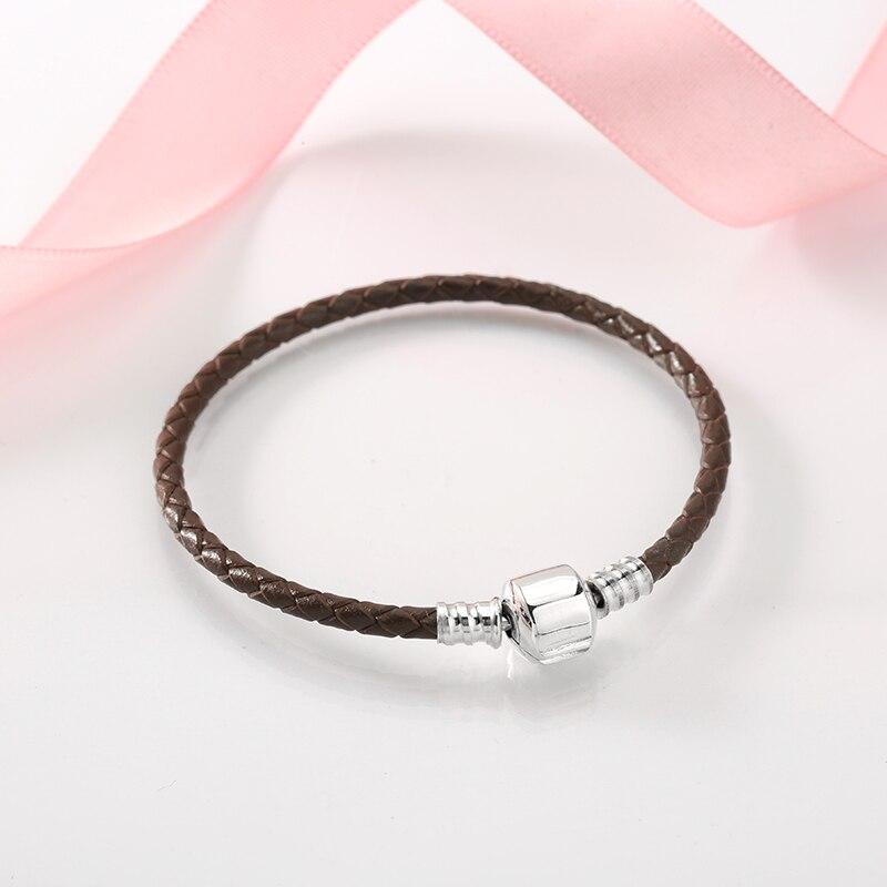 100% Genuine Brown Leather rope Bracelet