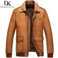 2016 recién llegado de chaquetas de cuero de piel de oveja genuina otoño prendas de vestir exteriores de estilo de negocios/delgado/fino abrigo marca orange 61l1517