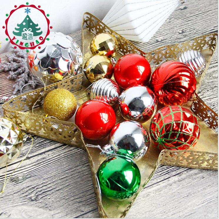 New Year Christmas Tree Ornaments Polystyrene Kerstballen ...