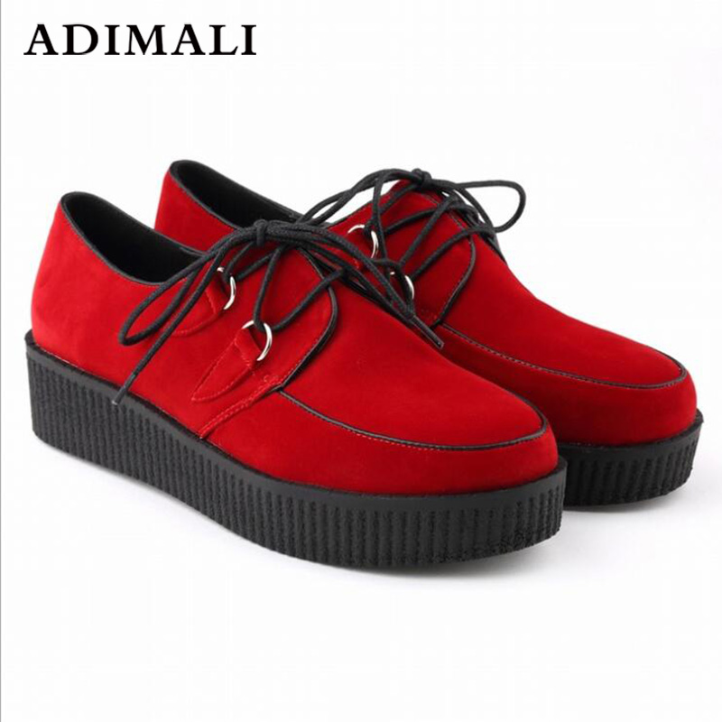 Black Suede Leather Women Sneakers Platform Shoes Flat Tenis Feminino chausseure femme casual Creepers womens Flats size 35-44 fashion women flats summer leather creepers platform sneakers causal shoes solid basket femme white black