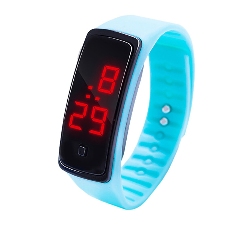 Simple Men Watch LED Digital Display Bracelet Watch Children's Students Silica Gel Sports Watch Clock relojes hombre Y09#N (5)