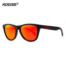 KDEAM Fashion Polarized Mens Sunglasses Square Sports Goggles TR90 Trend-setting Beach Shades With Peanut Box KD777