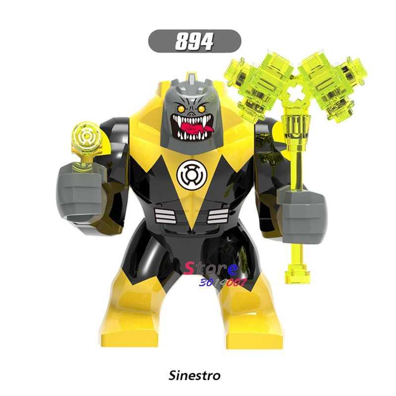 Pojedynczy duży rozmiar Marvel zielona latarnia Kilowog DC żółta latarnia Sinestro Thanos Venom Carnage Batman figurki klocki