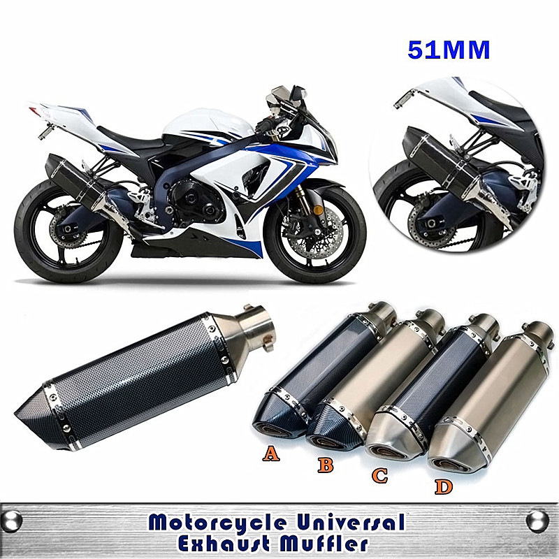 Universal Modified Motorcycle RACING Akrapovic Exhaust Pipe Muffler Scooter GP Pipe Dirt Bike For Most MotorBike bjmoto universal motorcycle exhaust modified scooter akrapovic exhaust muffle fit for most motorcycle