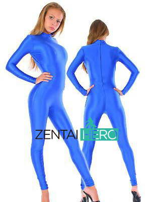 Free Shipping NEW Royal Blue Color Lycra Spandex Leotard Tights Sexy Zentai Catsuit No Hood MT201 Dropship