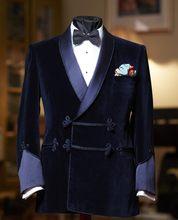 c14f977a776bb Последние конструкции пальто брюки Королевский синий черный бархат мужской  костюм Slim Fit Куртка смокинг на заказ