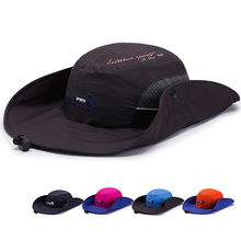 High Quality Polyester Sombrero Patchwork Sun Hat Quick drying Bucket Hats Outdoor Fishing Wide Brim Beret Cap For Men Women