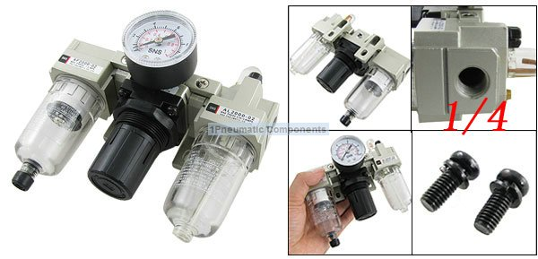 все цены на Free Shipping 2PCS/Lot SMC Type 1/4'' High Flow Rate Air Source Treatment Unit Filter Regulator Lubricator AC2000-02 онлайн