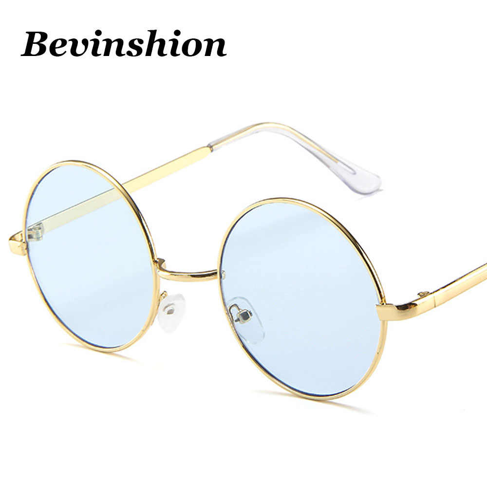 055158de8a0 ... New 2019 Vintage Fashion Glasses Men Round Sunglasses Retro Cool Hip  Hop Style Black Red Yellow ...