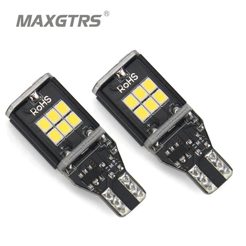 2x MAXGTRS T15 W16W 921 912 Amber / Putih Mobil LED Bulb CANBUS Kesalahan Gratis Auto Turn Signal Back-up / Reverse Wedge Light