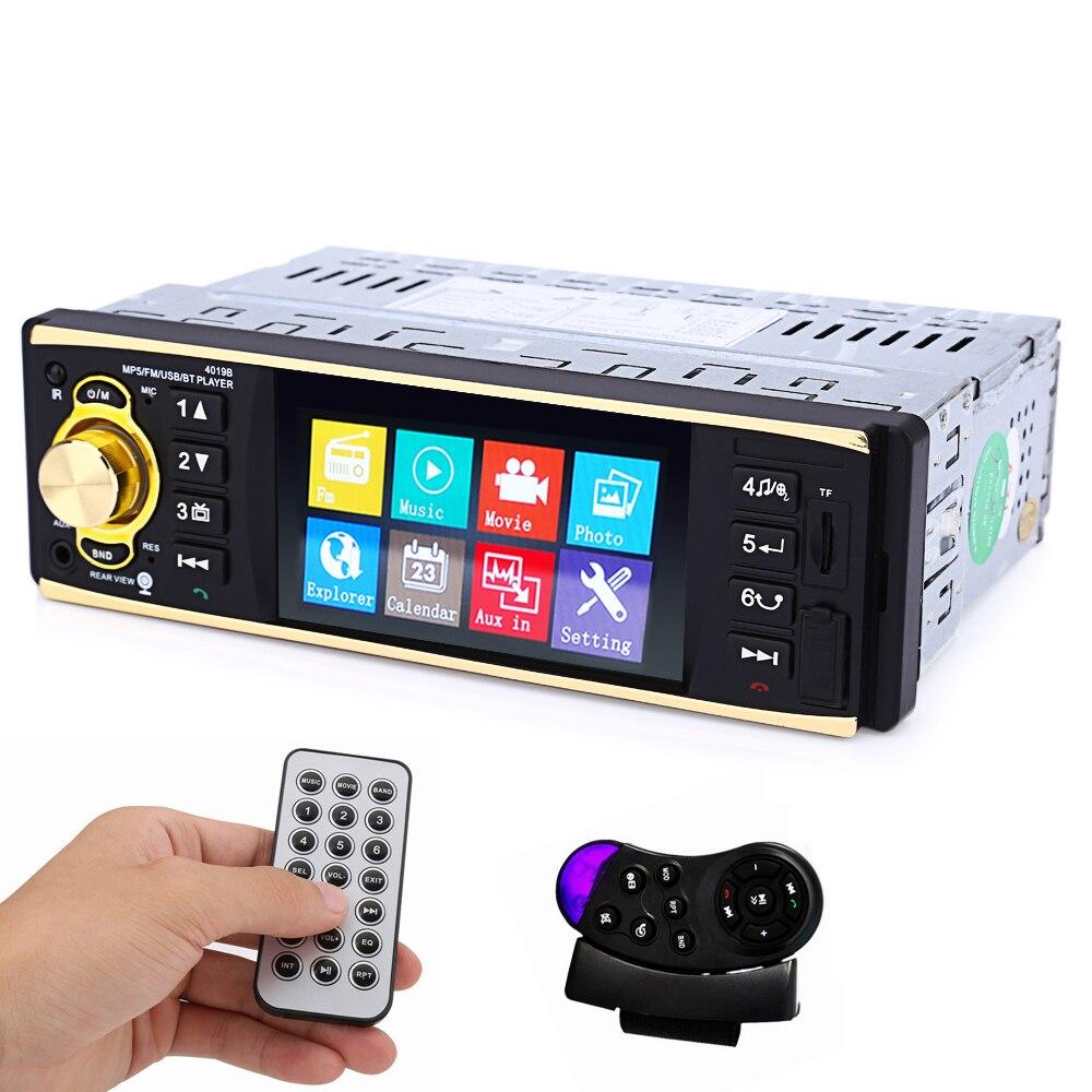 Universal 1Din Auto Car Radio Audio Stereo Player 1 Din 4.1 inch Bluetooth Autoradio Support FM USB Hands free calls TV output