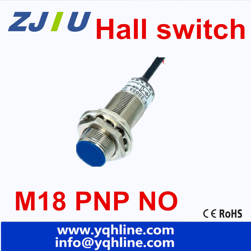 M18 Hall Sensor Proximity Switch PNP NO 3 wires normally Open with ...