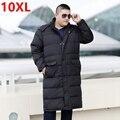 Tamaño grande fat XL abrigo de invierno largo abajo chaqueta de alto Overknee 9XL 10XL 8XL 7XL más tamaño párrafo largo ropa masculina, de invierno 6XL