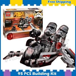95 шт. космические войны теневые штурмовики Fighter 10366 модель строительные блоки Дарт Вейдер подарки для детей наборы совместимы с Lego