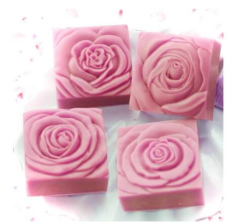 4pcs Flower soap mold silicone soap mold molds silica gel soap molds handmade square