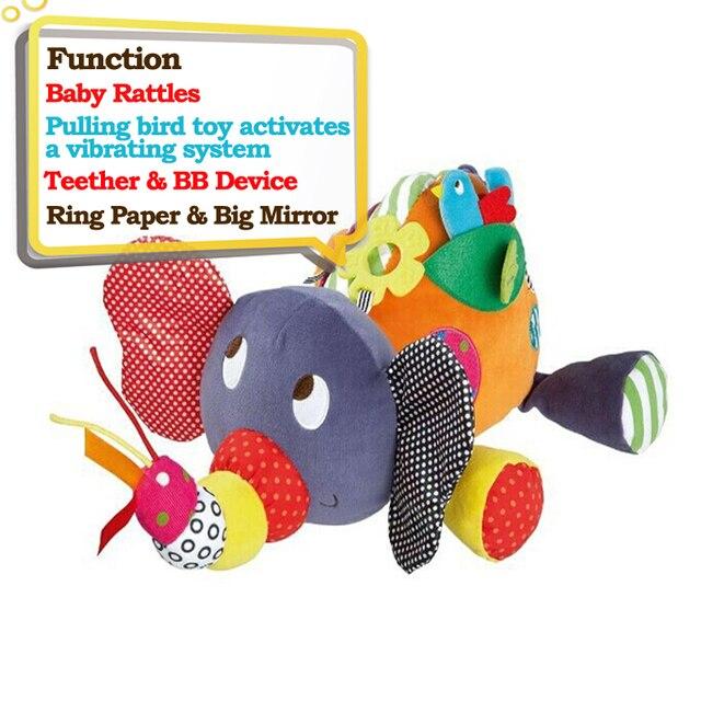 Educatief Speelgoed Voor Baby 0-12 Maand Cartoon Pluche Olifant Baby Rammelaars Brinquedos Para Bebe Oyuncak Baby Speelgoed 1