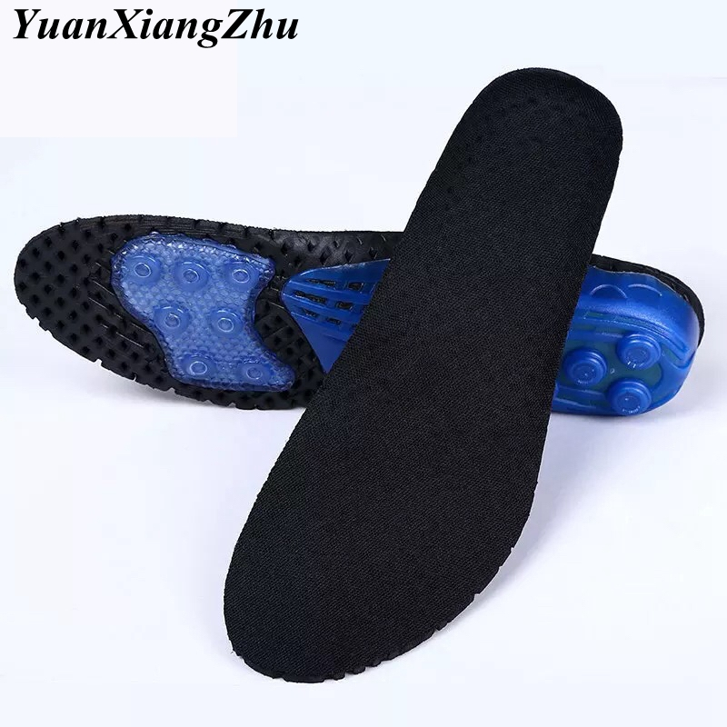 Men Women Insoles comfortable Silicone insole Shock Absorption pads Foot Care Plantar Fasciitis Running Sport Insoles
