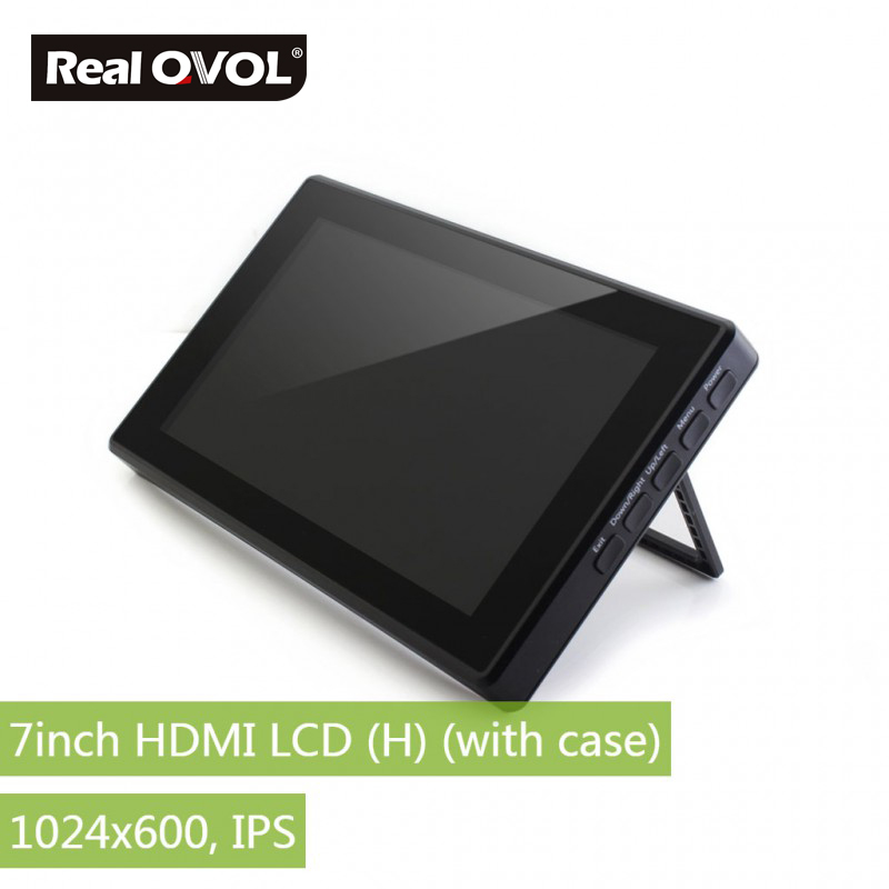 RealQvol 7inch HDMI LCD (H) (with Case) Capacitive Touch IPS Screen LCD Supports  Raspberry Pi Multi Systems